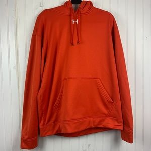Under Armour Orange Pull String Pull Over Hoodie